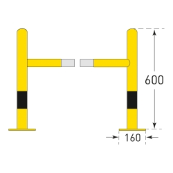 TRAFFIC-LINE Column Protector (4)