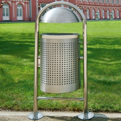 TRAFFIC-LINE Stainless Steel Litter Bin - Style DS35 (2)