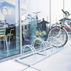 bicycle parking: TRAFFIC-LINE Hi-Hoop Cycle Rack