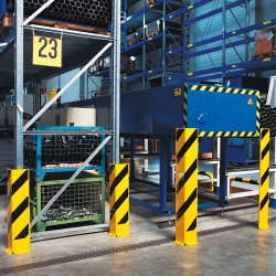 protection guards: BLACK BULL Heavy Duty Pallet Racking Protectors