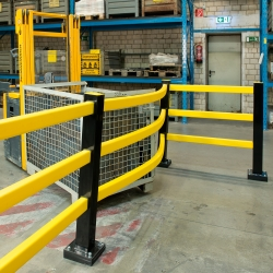 protection railings: BLACK BULL FLEX Impact Protection System Hybrid