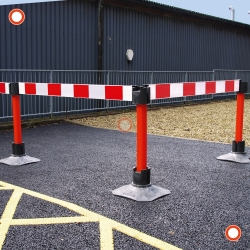 ramps, cones and site safety: TRAFFIC-LINE Barrier Board Systems